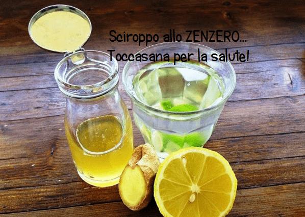 Sciroppo allo Zenzero limone e miele in grado di curare la tosse