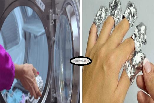 Molti mettono della carta stagnola in lavatrice. Ecco perchè