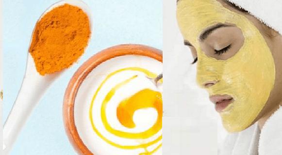 Maschera alla curcuma per una pelle giovane senza acne ne macchie