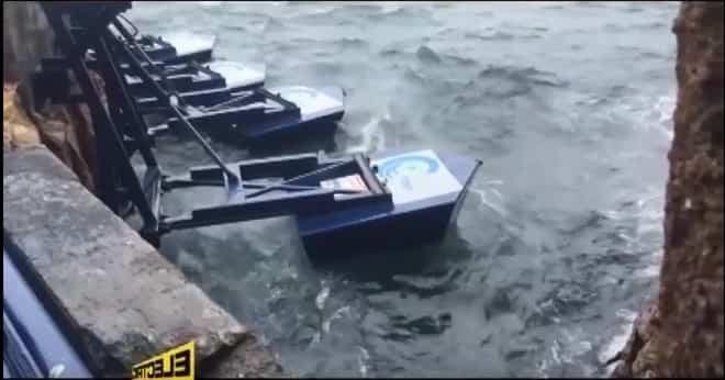 Hanno istallato dei galleggianti e creato una centrale elettrica che produce energia dalle onde. VIDEO