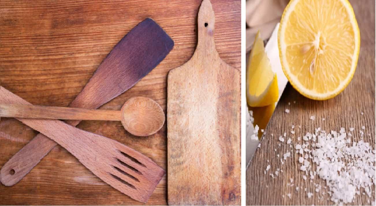 Muffa sul legno tagliere