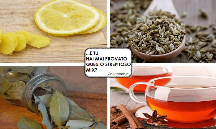 Tisana Finocchio,Alloro,Cannella e Limone per eliminare la pancia
