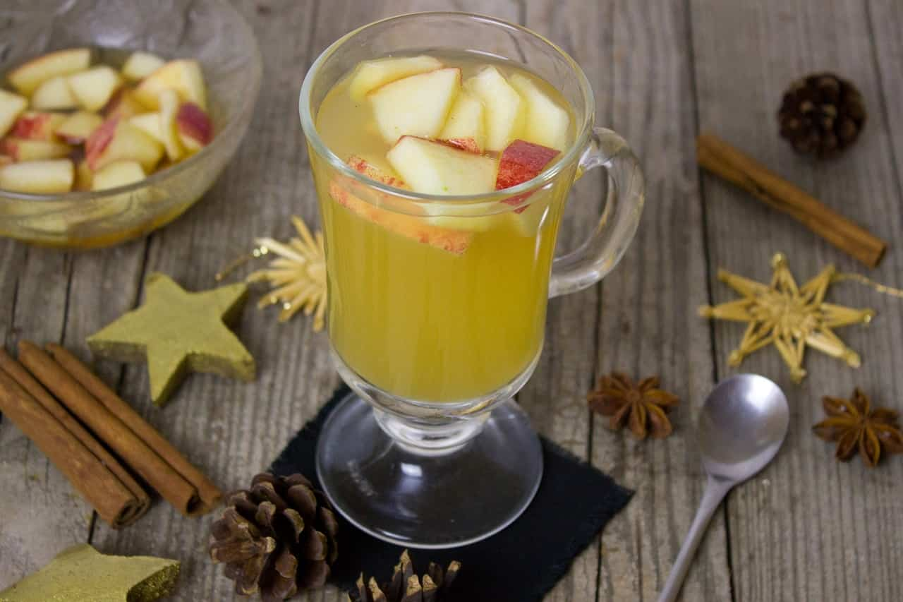buccia di mela bevanda decongestionante