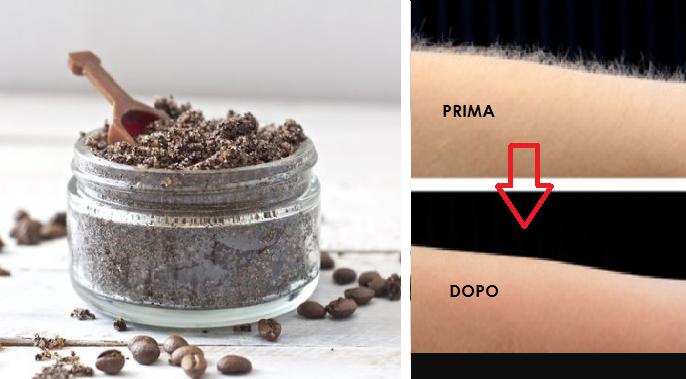 depilazione con caffè e bicarbonato