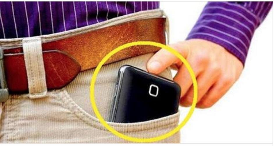 cellulare tasca pantaloni rischio sterilità fertilità