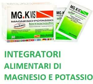 Integratori alimentari di magnesio e potassio