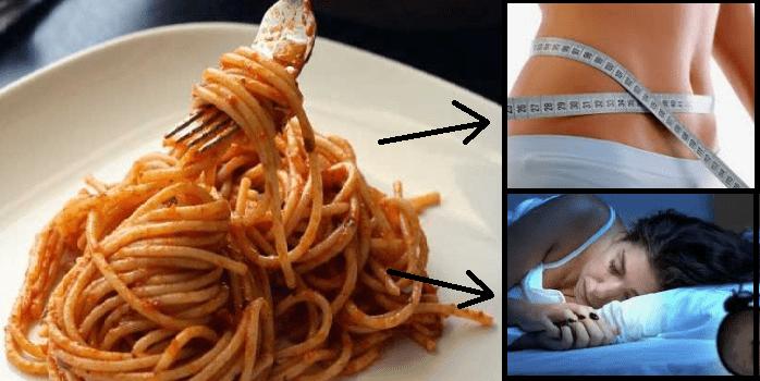Mangiare pasta la sera.Un modo per perdere peso e dormire meglio
