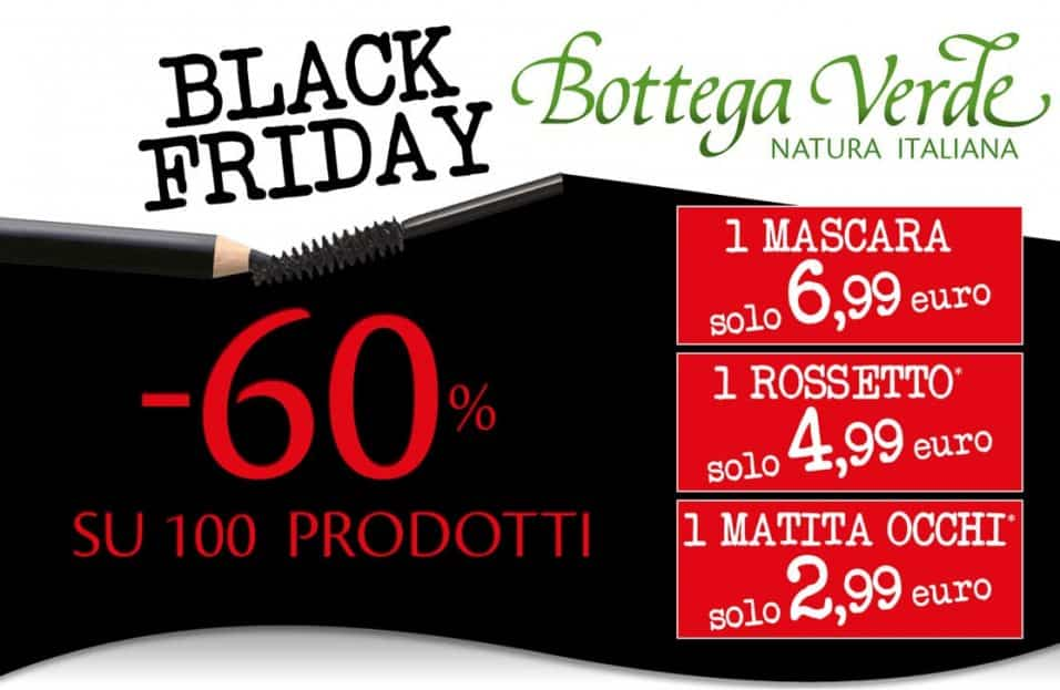 black friday Bottega Verde 2019 offerte