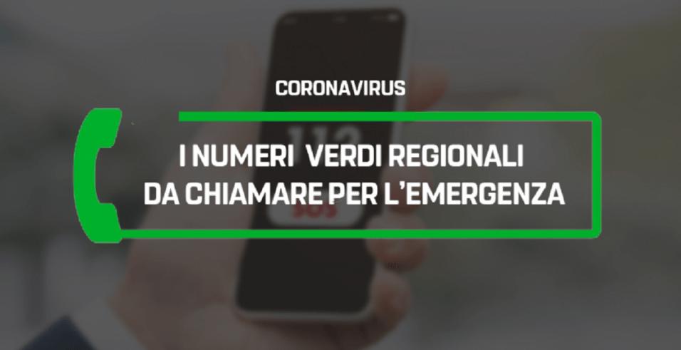 coronavirus emergenza numeri verdi