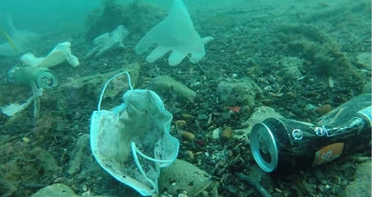 Mascherine e guanti in mare: è già disastro ambientale