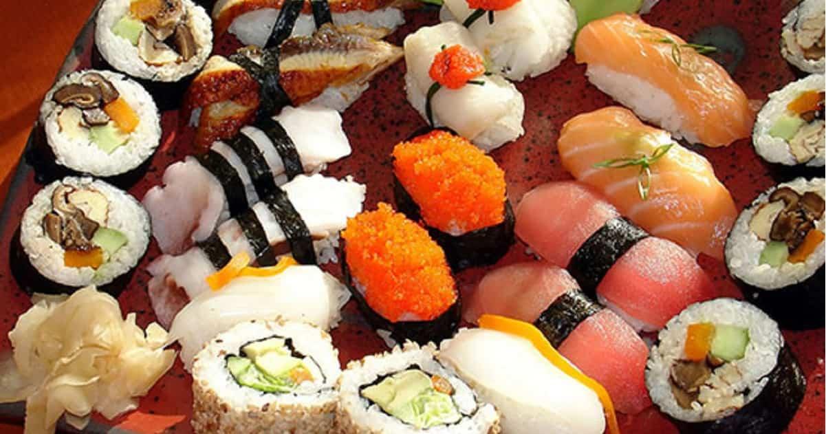 sushi pieno di parassiti