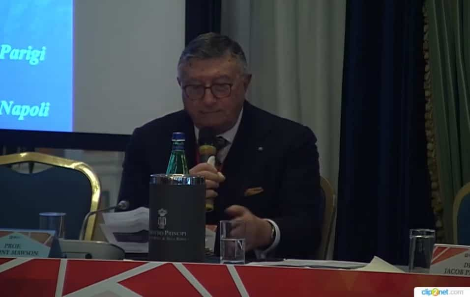 Giulio Tarro Convegno dell'ONB Vaccinare in sicurezza