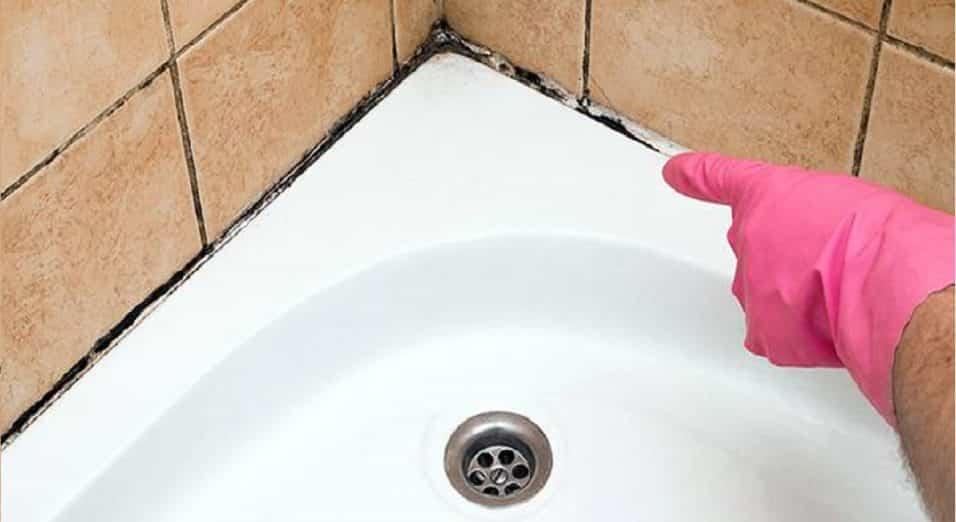 Muffa sul silicone della doccia